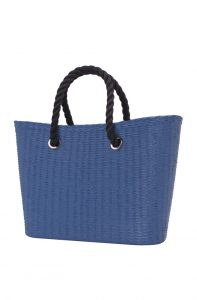 O bag Urban kabelka MINI Cobalto s černými krátkými provazy