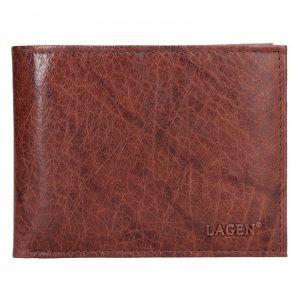 Pánská kožená peněženka Lagen Rick – hnědá