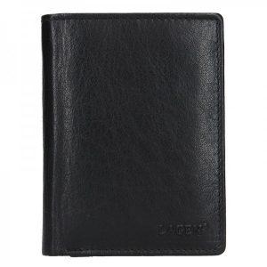 Pánská kožená peněženka Lagen Pavlov – černá