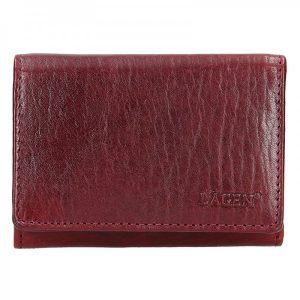 Dámská kožená peněženka Lagen Jalena – vínová