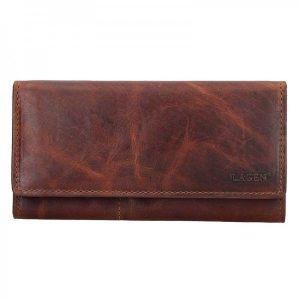 Dámská kožená peněženka Lagen Inga – hnědá