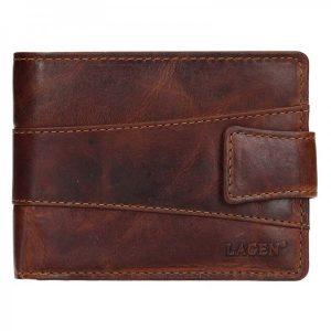 Pánská kožená peněženka Lagen Kevin – tmavě hnědá