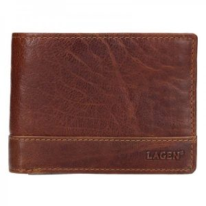 Pánská kožená peněženka Lagen Tex – světle hnědá