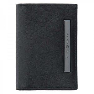 Malá pánská kožená peněženka Tommy Hilfiger Abel – černá