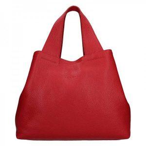 Dámská kožená kabelka Facebag Sofi – červená