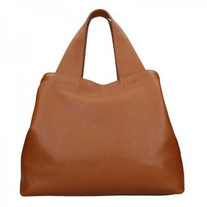 Dámská kožená kabelka Facebag Sofi – hnědá