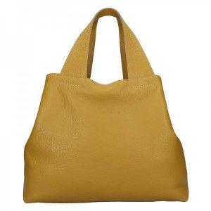 Dámská kožená kabelka Facebag Sofi – hořčicová