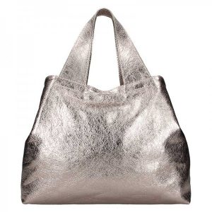 Dámská kožená kabelka Facebag Sofi – zlatá