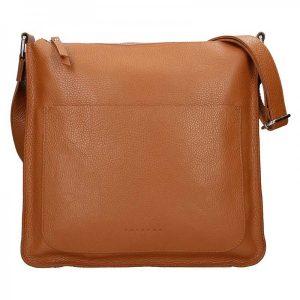 Dámská kožená kabelka Facebag Lima – hnědá