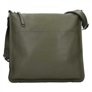 Dámská kožená kabelka Facebag Lima – olivová