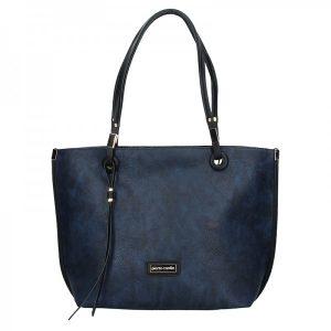 Dámská oboustranná kabelka Pierre Cardin Apolen – modro-šedá