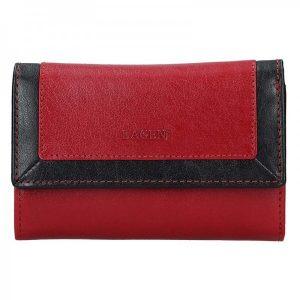 Dámská kožená peněženka Lagen Gina – červeno-černá