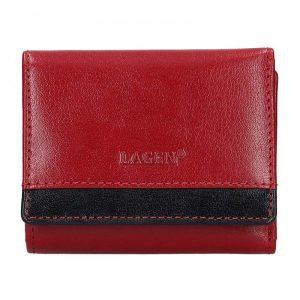 Dámská kožená peněženka Lagen Ela – červeno-černá