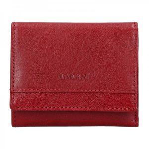 Dámská kožená peněženka Lagen Ela – červená