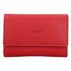 Dámská kožená peněženka Lagen Debora – červená