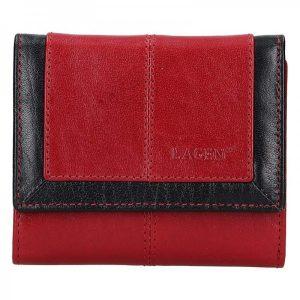 Dámská kožená peněženka Lagen Bianka – červená