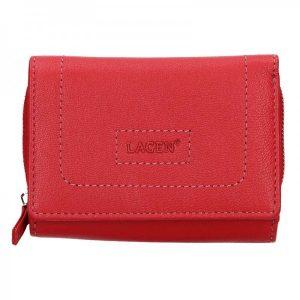Dámská kožená peněženka Lagen Aiga – červená