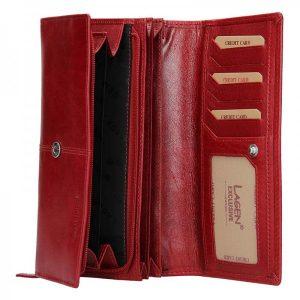 Dámska kožená peňaženka Lagen Heda – červená