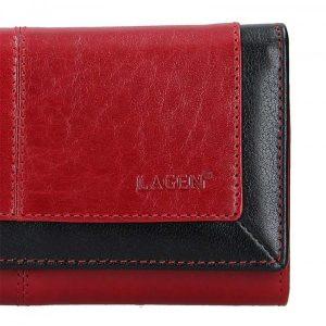 Dámská kožená peněženka Lagen Heda – červeno-černá