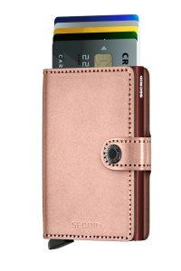 Secrid speciální kožená peněženka Mini Wallet Metallic Rose