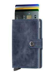 Secrid speciální kožená peněženka Mini Wallet Vintage Blue
