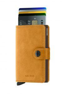 Secrid speciální kožená peněženka Mini Wallet Vintage Ochre