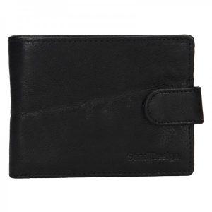 Pánská kožená peněženka SendiDesign Robert – černá
