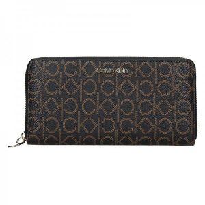 Dámská peněženka Calvin Klein Kaira – hnědá