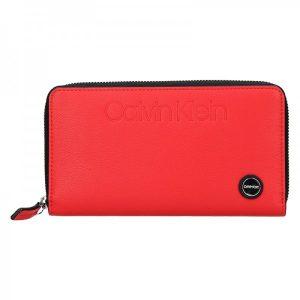 Dámská peněženka Calvin Klein Vanila – červená