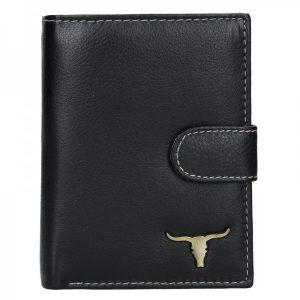 Pánská kožená peněženka Wild Buffalo Lowl – černá