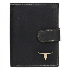 Pánská kožená peněženka Wild Buffalo Kon – černá