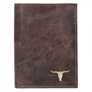 Pánská kožená peněženka Wild Buffalo Tom – hnědá