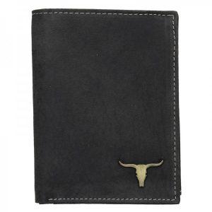 Pánská kožená peněženka Wild Buffalo Tom – černá