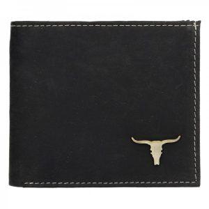 Pánská kožená peněženka Wild Buffalo Martin – černá
