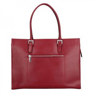 Dámská kožená kabelka Vera Pelle Norra – červená