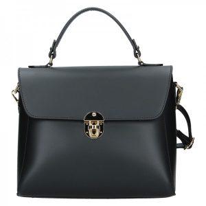 Dámská kožená kabelka Vera Pelle Luccy – černá