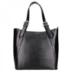 Dámská kožená kabelka Vera Pelle Sindy – černá
