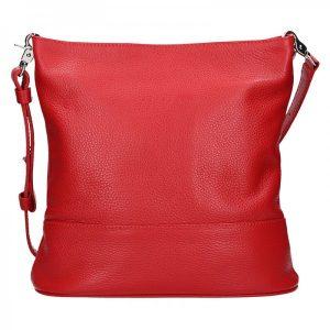 Dámská kožená crossbody kabelka Facebag Karla – červená