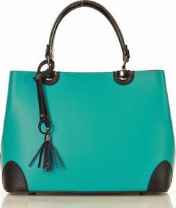 Italská kožená kabelka MARCO MAZZINI smaragdová (356p) Velikost: univerzální
