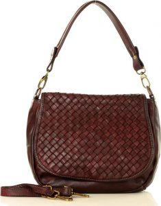 Bordó kožená kabelka MARCO MAZZINI (v6e) Velikost: univerzální