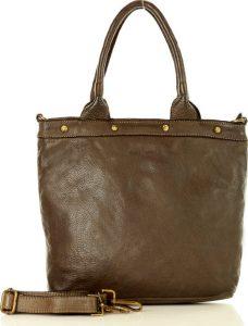 Khaki shopper kabelka MARCO MAZZINI (v34f) Velikost: univerzální