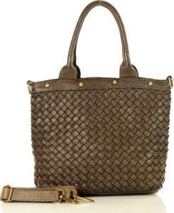 Hnědá shopper kabelka MARCO MAZZINI (v33f) Velikost: univerzální