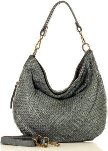 MARCO MAZZINI šedá kožená kabelka (v38d) Velikost: univerzální