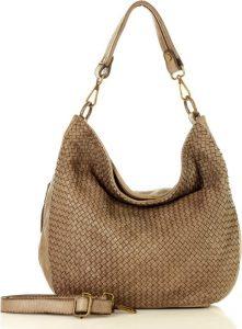 MARCO MAZZINI hnědá kožená kabelka (v38e) Velikost: univerzální