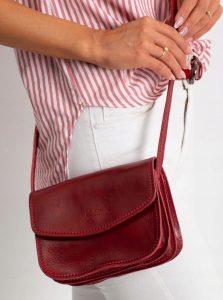 Rovicky bordó kožená crossbody kabelka (TWR-90 RED) Velikost: univerzální