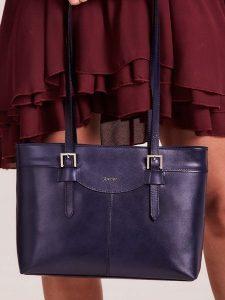 Rovicky tmavě modrá shopper kabelka (TWR-62) Velikost: univerzální