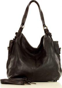 MARCO MAZZINI Městská kožená kabelka black (v47a) Velikost: univerzální