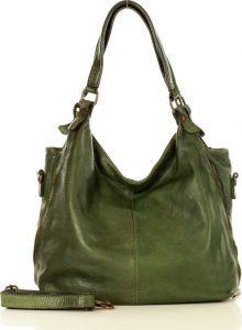 MARCO MAZZINI Městská kožená kabelka green (v47c) Velikost: univerzální