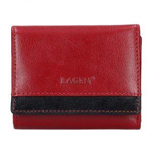Lagen Dámská kožená peněženka BLC-160231 Red/Blk