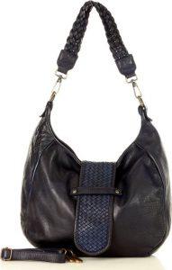 MARCO MAZZINI granátová kožená kabelka (v44b) Velikost: univerzální
